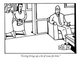 """Living brings up a lot of issues for him."" - New Yorker Cartoon Premium Giclee Print by Bruce Eric Kaplan"