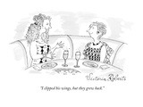"""I clipped his wings, but they grew back."" - New Yorker Cartoon Premium Giclee-trykk av Victoria Roberts"