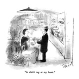 """It didn't tug at my heart."" - New Yorker Cartoon Regular Giclee Print by Stan Hunt"