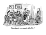 """Howard, you've met my ukulele ladies before."" - New Yorker Cartoon Premium Giclee Print by Victoria Roberts"