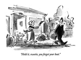 """Hold it, sweetie, you forgot your heat."" - New Yorker Cartoon Premium Giclee Print by Lee Lorenz"
