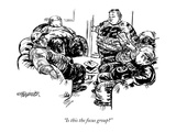 """Is this the focus group"" - New Yorker Cartoon Regular Giclee Print by William Hamilton"