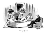 """It's my only vice."" - New Yorker Cartoon Premium Giclee Print by Lee Lorenz"