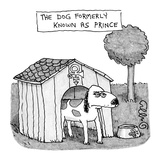 Dog Formerly Known as Prince - New Yorker Cartoon Regular Giclee Print by J.C. Duffy