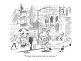 """Perhaps that peculiar odor is autumn."" - New Yorker Cartoon Premium Giclee Print by Edward Frascino"