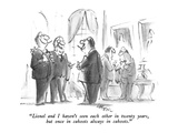 """Lionel and I haven't seen each other in twenty years, but once in cahoots…"" - New Yorker Cartoon Premium Giclee Print by Lee Lorenz"