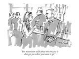 """I've never been wild about this bar, but it does get you where you want t…"" - New Yorker Cartoon Regular Giclee Print by Michael Crawford"