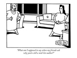 """What am I supposed to say when my friends ask why you're still a mid-list…"" - New Yorker Cartoon Premium Giclee Print by Bruce Eric Kaplan"