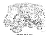"""Larry never gains an ounce!"" - New Yorker Cartoon Premium Giclee Print by Edward Koren"