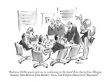 """And now I'd like you to join me in welcoming to the board Arne Savin from…"" - New Yorker Cartoon Premium Giclee Print by Lee Lorenz"