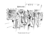 """Comfort food for the eyes."" - New Yorker Cartoon Premium Giclee Print by Lee Lorenz"