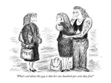 """What's cool about this guy is that he's one-hundred-per-cent idea-free!"" - New Yorker Cartoon Giclee Print by Edward Koren"