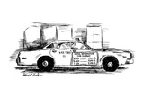 Sign on taxi cab door reads; Useful Information Cab Company, andlists meas… - New Yorker Cartoon Premium Giclee Print by Stuart Leeds