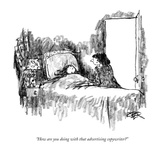 """How are you doing with that advertising copywriter"" - New Yorker Cartoon Premium Giclee Print by Robert Weber"