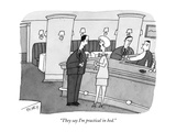 """They say I'm practical in bed."" - New Yorker Cartoon Premium Giclee Print by Peter C. Vey"