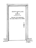 "Door with title ""Fenston, Griff, Wintz & Barkins Attorneys-at-Law The Lega…"" - New Yorker Cartoon Regular Giclee Print by Dana Fradon"