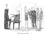 """ 'Over there, over there . . . ' "" - New Yorker Cartoon Premium Giclee Print by Robert Weber"