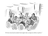"""It's been moved and seconded, Cartwright, that we clap if we believe in f…"" - New Yorker Cartoon Premium Giclee Print by Lee Lorenz"