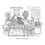 """What's her working title"" - New Yorker Cartoon Giclee Print by Edward Koren"