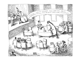 "Waiter talking to a horse sitting at a table: ""I know I can't make you dri…"" - New Yorker Cartoon Premium Giclee Print by John O'brien"