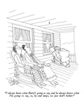"""I always know what Harry's going to say, and he always knows what I'm goi…"" - New Yorker Cartoon Premium Giclee Print by Gahan Wilson"