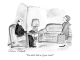 """You don't look as if you voted."" - New Yorker Cartoon Premium Giclee-trykk av Victoria Roberts"