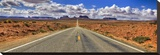 Highway to Monument Valley AZ Stretched Canvas Print by Richard Desmarais