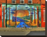 Wall Painting with Bike Leinwand von Richard Desmarais