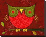 Red Owl Leinwand von Penny Keenan