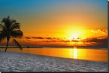 Key West Sunrise Reflection Stretched Canvas Print by Vaughn Garner