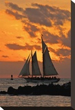 Hidden Sun Sail Stretched Canvas Print by Vaughn Garner