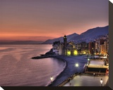 Camogli Sunset I Stretched Canvas Print by Richard Desmarais