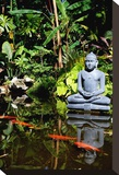 Buddha Garden Stretched Canvas Print by Jan Michael Ringlever