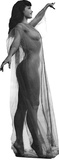 Bettie Page Black and White Lifesize Standup Cardboard Cutouts