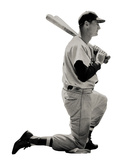 Ted Williams (Kneeling) Boston Red Sox Lifesize Standup Poster Stand Up