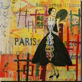 Paris-Fashion I Stretched Canvas Print by Irena Orlov