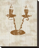 Antique Candelabra Stretched Canvas Print by Irena Orlov