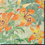 Tiger Lily Summer Stretched Canvas Print by Roberta Collier Morales