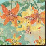 Tiger Lilies Summer Stretched Canvas Print by Roberta Collier Morales