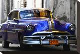 Blue Car Stretched Canvas Print by Brian Stoneman