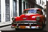 Red Car Stretched Canvas Print by Brian Stoneman