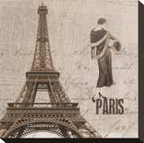 Paris II Stretched Canvas Print by Irena Orlov