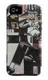 Man in Cafe iPhone 5 Case by Juan Gris