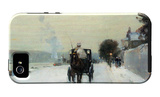 Along the Seine, Winter iPhone 5 Case by Childe Hassam