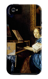Dame on Spinet iPhone 5 Case by Jan Vermeer