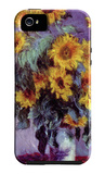 Still Life with Sunflowers iPhone 5 Case by Claude Monet