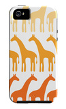 Orange Giraffe Family iPhone 5 Case by  Avalisa