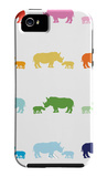 Rainbow Rhinos iPhone 5 Case by  Avalisa