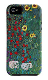Garden with Crucifix iPhone 5 Case by Gustav Klimt