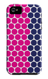 Blue Pink Dots iPhone 5 Case by  Avalisa